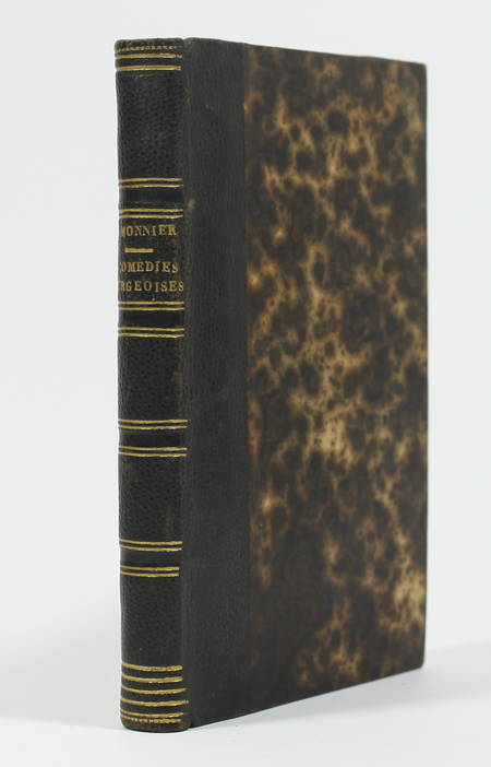 Henri MONNIER - Comédies bourgeoises - 1858 - Ex-libris du duc de Massa - Photo 1 - livre du XIXe siècle