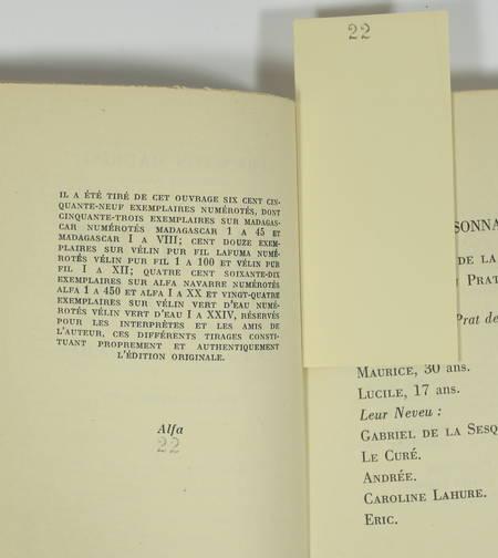 MAURIAC - Le feu sur la terre. Pièce en 4 actes - 1951 - EO - 1/470 Alfa - Photo 1 - livre de collection