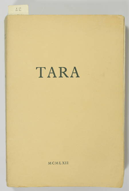 Michel Del CASTILLO - Tara - 1962 - EO - 1/50 sur pur fil du Marais. - Photo 1 - livre rare