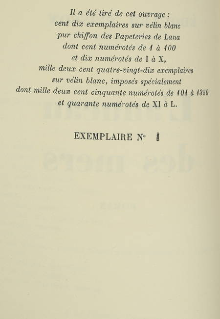 Edouaurd PEISSON - L'anneau des mers - 1945 - 1/110 vélin de Lana - Photo 0 - livre de collection