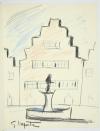 VERHAEREN Les villes à pignons 1971 - Georges Laporte - Dessin signé + Lithos - Photo 0, livre rare du XXe siècle