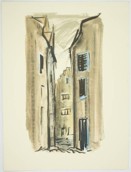 VERHAEREN Les villes à pignons 1971 - Georges Laporte - Dessin signé + Lithos - Photo 2 - livre de bibliophilie