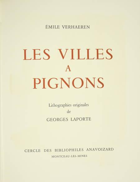 VERHAEREN Les villes à pignons 1971 - Georges Laporte - Dessin signé + Lithos - Photo 3 - livre de bibliophilie