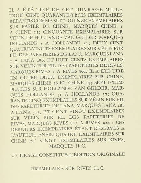 Albert CAMUS - Le minotaure ou la halte d'Oran - 1950 - EO sur Rives - Photo 0 - livre de collection