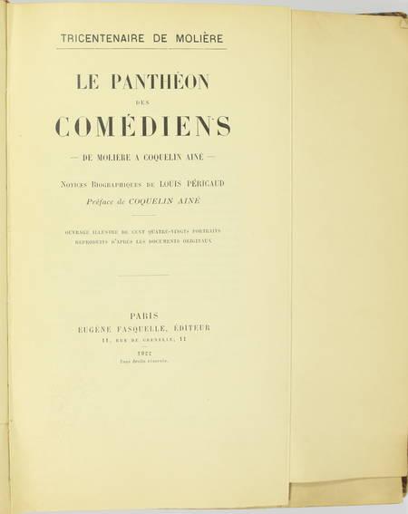 Le panthéon des comédiens. De Molière à Coquelin aîné - 1922 - 1/50 Japon - Photo 4 - livre du XXe siècle