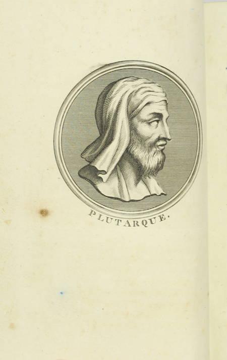 PLUTARQUE - Vies des hommes illustres - 1804 - 4 volumes - Portraits - Photo 1 - livre de bibliophilie