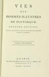 PLUTARQUE - Vies des hommes illustres - 1804 - 4 volumes - Portraits - Photo 2, livre ancien du XIXe siècle