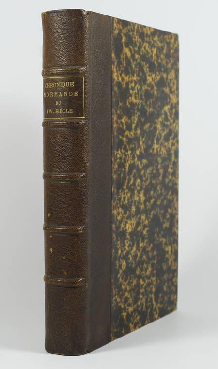 [Normandie] MOLINIER - Chronique normande du XIVe siècle - 1882 - Photo 0 - livre de bibliophilie