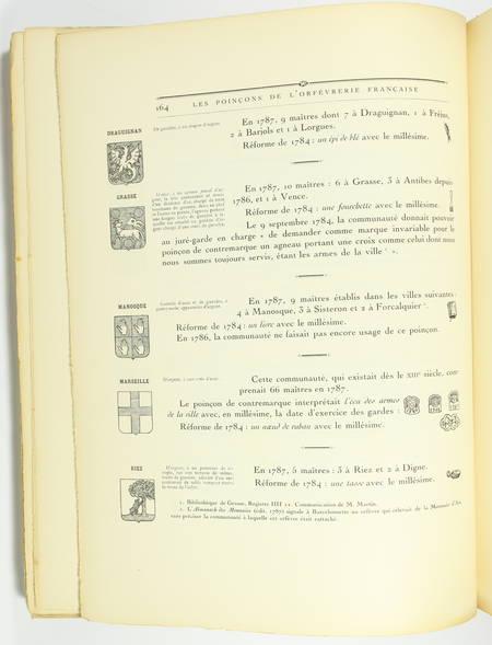 Louis CARRE - Les poinçons de l'orfèvrerie française du 14e au 19e - 1928 - Photo 1 - livre de bibliophilie