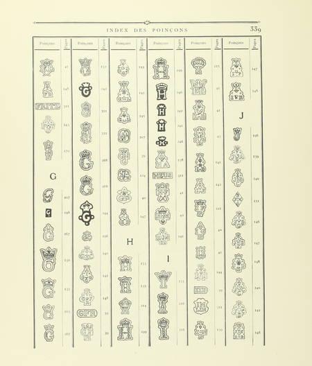 Louis CARRE - Les poinçons de l'orfèvrerie française du 14e au 19e - 1928 - Photo 3 - livre de bibliophilie
