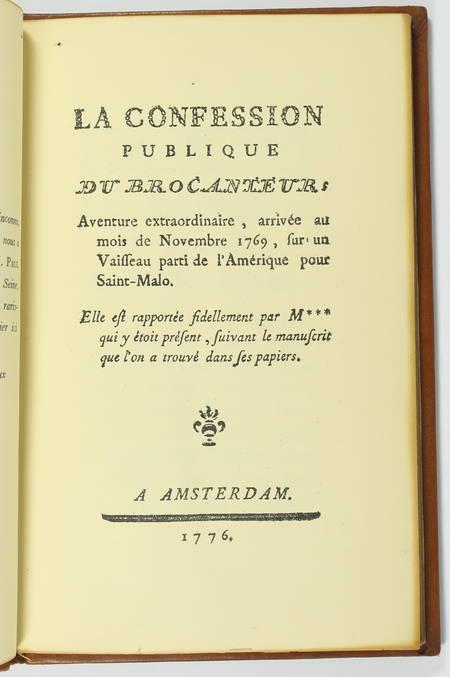 La confession publique d'un brocanteur. Aventure extraordinaire - 1776 (1936) - Photo 1 - livre d'occasion