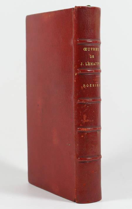 Poésies de Jules Lemaître. Les médaillons - Petites orientales ... 1896 Maroquin - Photo 1 - livre d'occasion