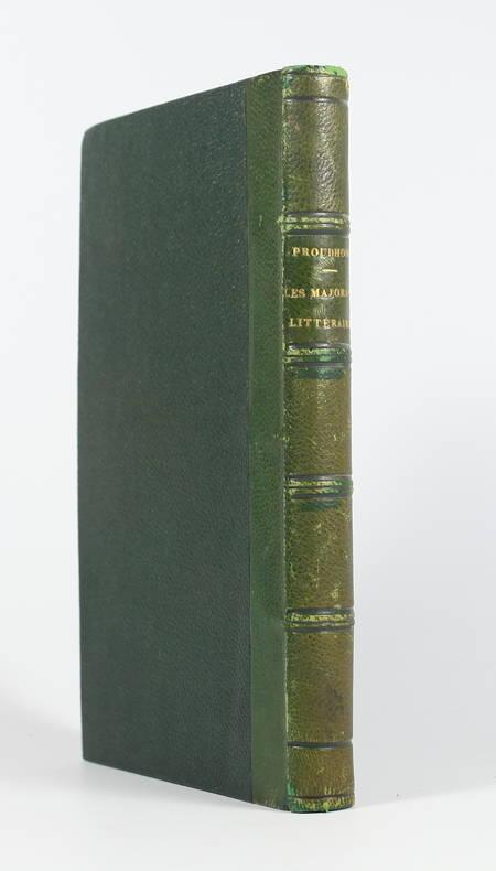 PROUDHON Les majorats littéraires. Examen d'un projet de loi - 1863 - EO - Photo 1 - livre du XIXe siècle