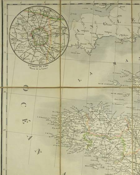 ANDRIVEAU Carte générale des routes France, divisées en routes de poste ... 1838 - Photo 2 - carte