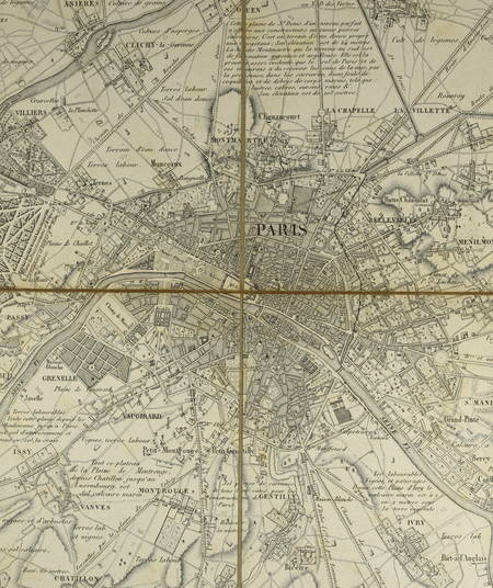 Maire - Carte topographique des environs de Paris - 1826 Echelle de 1/50 000 - Photo 0 - estampe