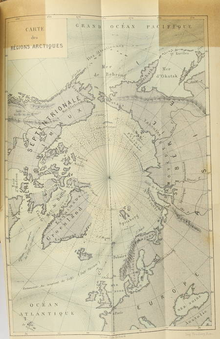 [Pôle nord] HAYES - La mer libre du pôle - 1880 - 4 gravures, une carte - Photo 1 - livre de bibliophilie