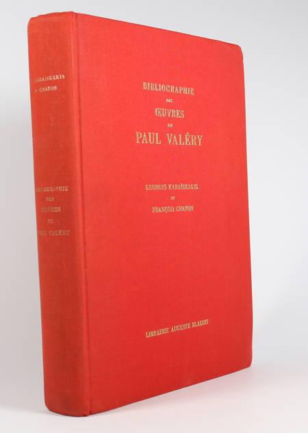 KARAISKAKIS (Georges) et CHAPON (François). Bibliographie des oeuvres de Paul Valéry, publiées de 1889 à 1965, livre rare du XXe siècle