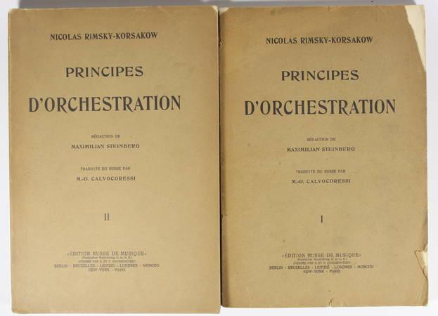 RIMSKY-KORSAKOW Principes d'orchestration avec exemples notés - 1922 - 2 v. - Photo 0 - livre de collection