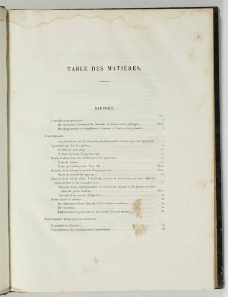 Commission de l'enseignement technique. Rapport et notes - 1865 - Photo 2 - livre rare