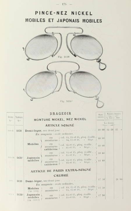 [Optique] Catalogue de la Société des Lunetiers - Tarif de 1911 - Rare - Photo 2 - livre moderne