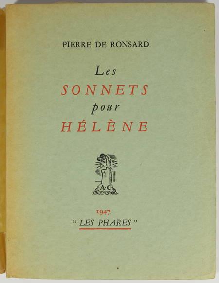 RONSARD (Pierre de). Les sonnets pour Hélène