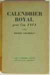 Pierre CHAMPION - Calendrier royal pour l an 1471 - 1928 - EO sur ALfa - Photo 0, livre rare du XXe siècle