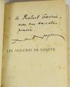 René BENJAMIN - Les augures de Genève - 1929 - EO avec envoi - Photo 0, livre rare du XXe siècle
