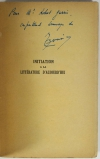 BOUVIER - Initiation à la littérature d aujourd hui. Cours moyen - 1932 - Envoi - Photo 0, livre rare du XXe siècle
