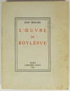Jean MENARD - L oeuvre de Boylesve - 1956 - Envoi - Photo 0, livre rare du XXe siècle