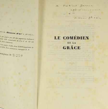 Henri GHEON - Le comédien et la grâce - 1925 - Envoi - Photo 1 - livre rare