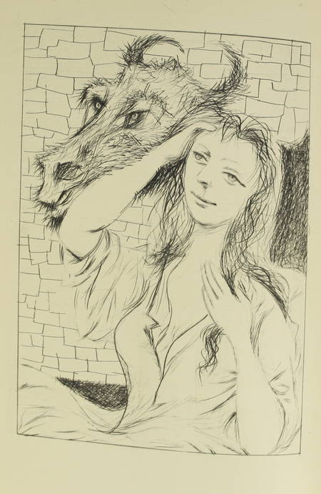 CAZOTTE - Le diable amoureux - 1949 - Pointe sèche de Mario Prassinos - Photo 0 - livre du XXe siècle