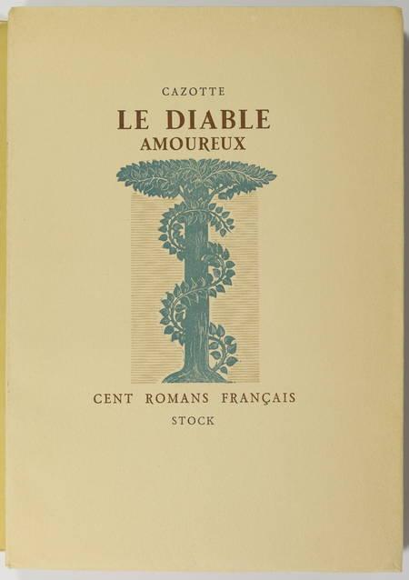 CAZOTTE - Le diable amoureux - 1949 - Pointe sèche de Mario Prassinos - Photo 1 - livre du XXe siècle
