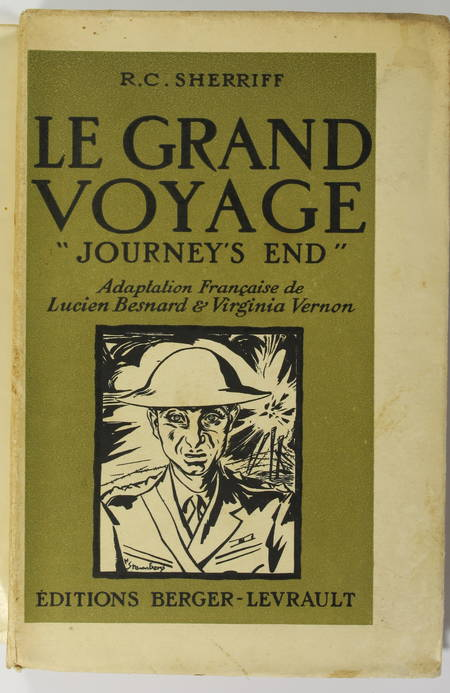 "SHERRIFF - Le grand voyage. ""Journey's end"" - 1930 - vélin Lafuma - Photo 1 - livre rare"