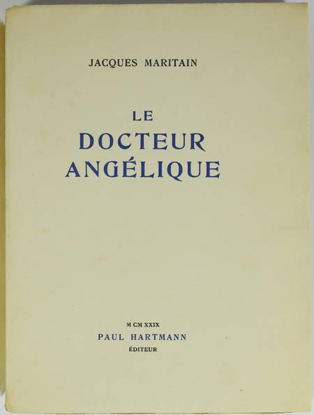 Jacques MARITAIN - Le docteur angélique - 1929 - 1/450 vélin Lafuma - Photo 1 - livre moderne