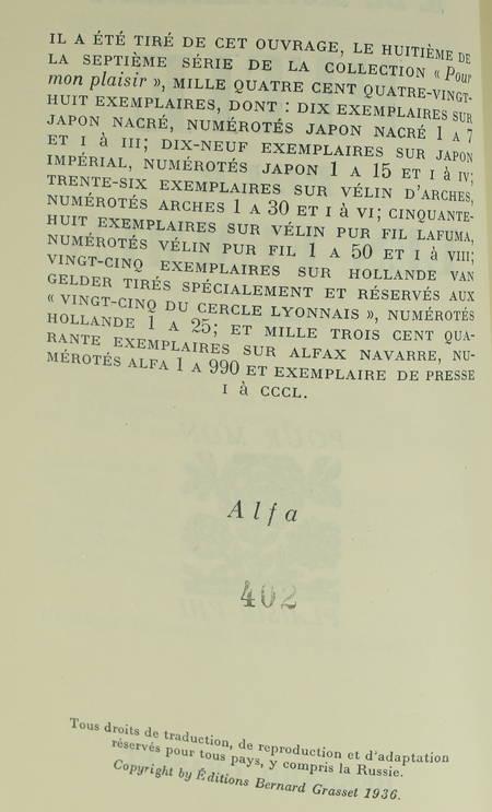 MONTHERLANT (Henry de). Pitié pour les femmes, livre rare du XXe siècle