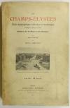 [Paris] ARISTE - Les Champs-Elysées - Etude topographique - 1913 - Photo 0 - livre de bibliophilie
