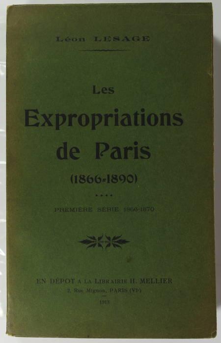 LESAGE - Les expropriations de Paris (1866-1890). Première série : 1866-1870 - Photo 0 - livre d'occasion