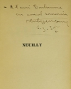 MONIN (Philippe). Neuilly. Monographie