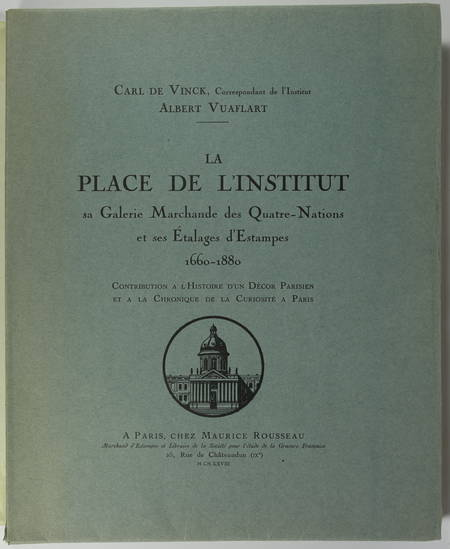 VINCK - La place de l'Institut sa galerie marchande et étalages d'estampes 1928 - Photo 0 - livre de collection