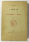 MEURET (J.). Le chapitre de Notre-Dame de Paris en 1790