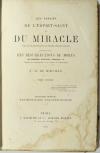 MIRVILLE - Manifestations Thaumaturgiques - 1868 - Photo 1, livre rare du XIXe siècle