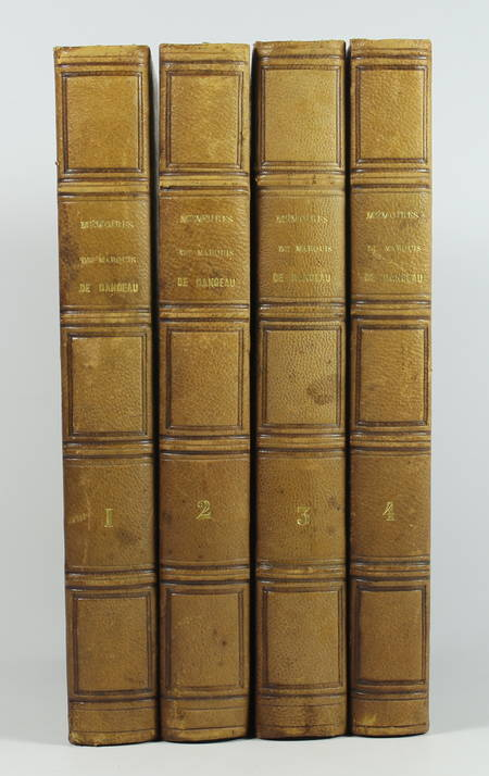 DANGEAU - Mémoires et journal du marquis de Dangeau - 1830 - 4 volumes - Photo 0 - livre d'occasion