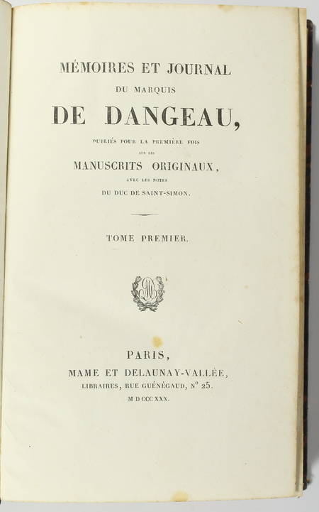 DANGEAU - Mémoires et journal du marquis de Dangeau - 1830 - 4 volumes - Photo 1 - livre d'occasion