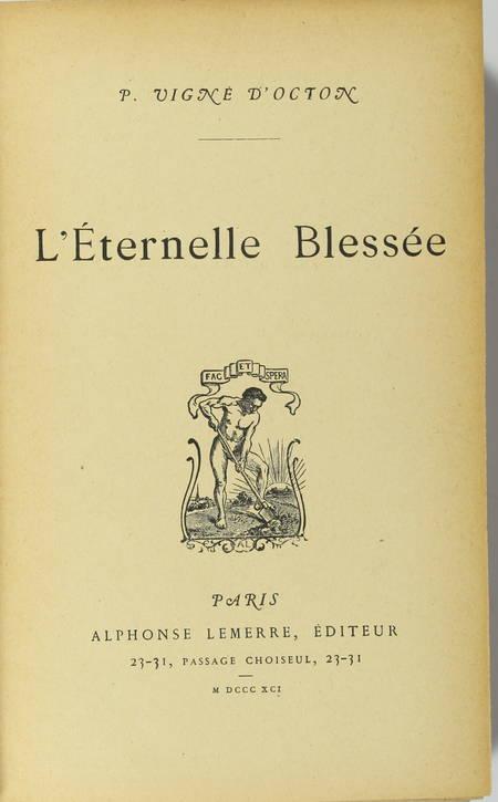 Paul VIGNE d'OCTON - L'éternelle blessée - Lemerre, 1891 - Photo 0 - livre rare