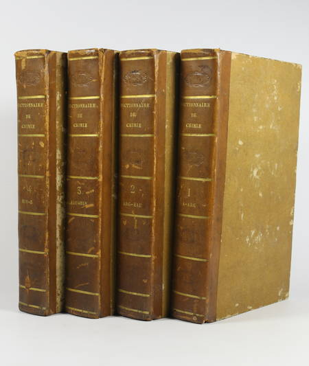 Andrew Ure - Dictionnaire de chimie - 1822 - 4 volumes - Planches - Photo 1 - livre rare