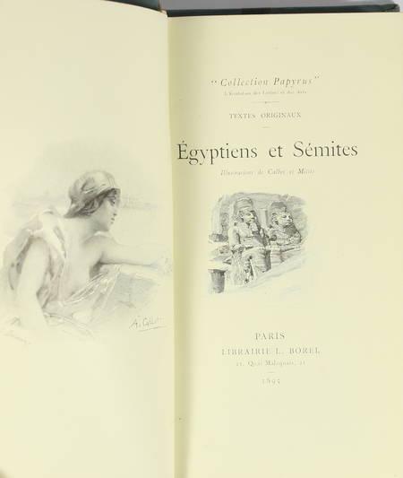 Egyptiens et sémites - 1895 - Illustrations de Calbet et Mittis - Photo 0 - livre de collection