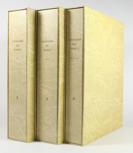 VINCI (Léonard de). Manuscrit A de l'institut de France