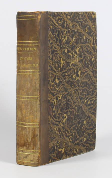 BERNARDIN de SAINT-PIERRE. Etudes de la nature. Abrégés par L. Girault, livre rare du XIXe siècle