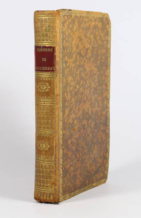 AGUESSEAU. Discours de monsieur le chancelier d'Aguesseau, livre ancien du XIXe siècle