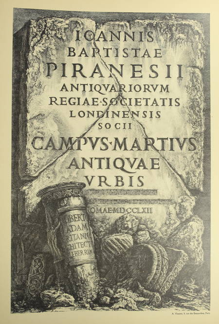 Oeuvres de Piranese. Frontispices, compositions, prisons ... 1913 - 140 planches - Photo 0 - livre rare
